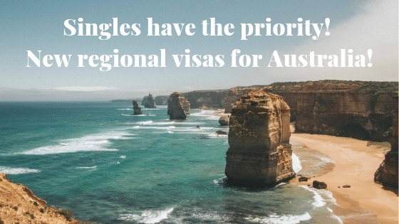 Priority to singles! New regional visas for Australia! 3