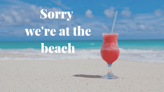 Baxvel goes on holidays 29 Jul-2 Aug 2019 1