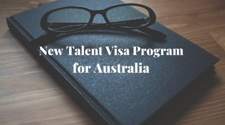 New Talent Visa Program for Australia